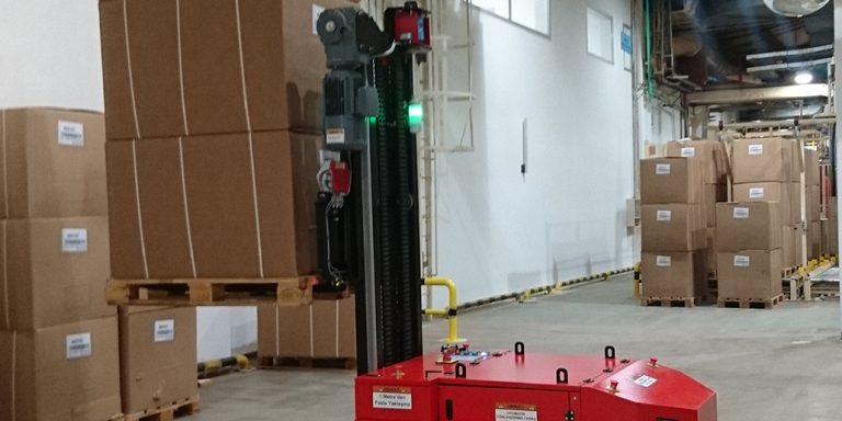 Forklift AGV Automated Laser Guided Vehicle AGV Otomatik Lazer Yönlendirmeli Araç