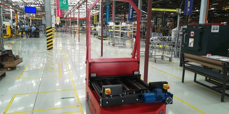 Automated Laser Guided Vehicle Conveyor AGV Konveyörlü AGV