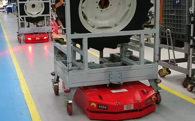 Automated Guided Vehicle Pin Hook AGV Pin Mekanizmalı AGV