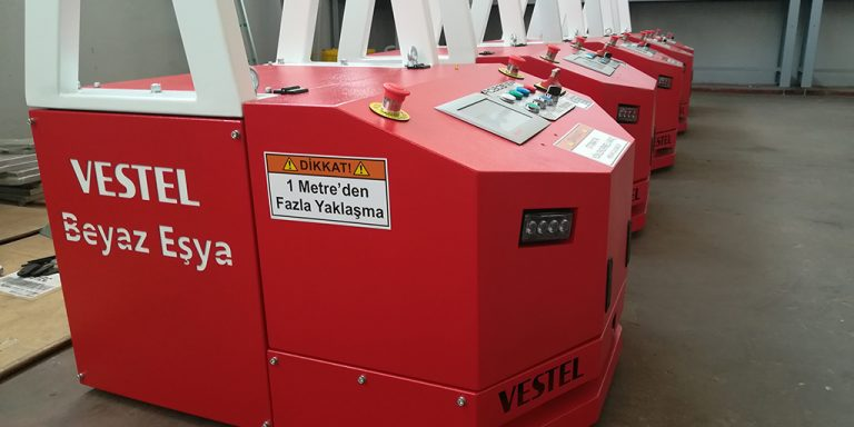 Automated Laser Guided Vehicle Tugger AGV Çekici AGV